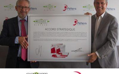 Collaboration entre 2 entreprises françaises Cousin Biotech et Péters Surgical